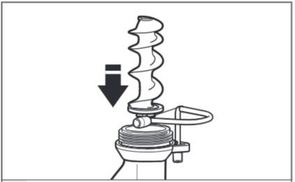 So setzen Sie den Nudelvorsatz zusammen, Schritt1