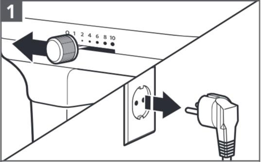 So stellen Sie den Abstand zwischen Flachrührer und Schüssel ein – Schritt1