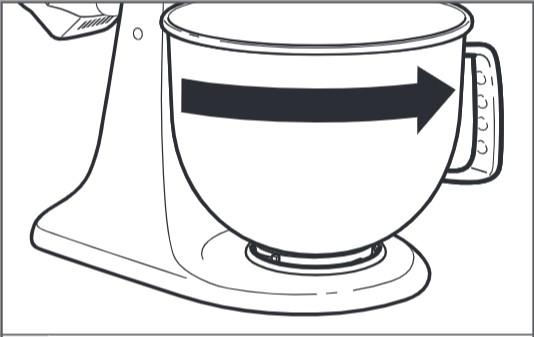 So sichern Sie die Schüssel bei der Montage der Küchenmaschine mit kippbarem Motorkopf – Schritt5