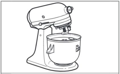 So befestigen Sie den Antriebsadapter an der Küchenmaschine mit kippbarem Motorkopf Schritt 4