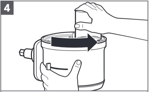 So setzen Sie die beidseitig verwendbare Reibscheibe ein, Schritt4