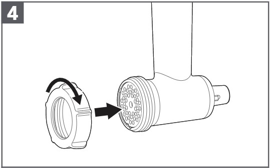 how do you assemble the meat grinder plastic step 4