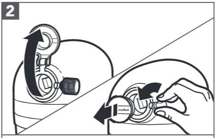 comment fixer le hachoir à viande au robot pâtissier étape2