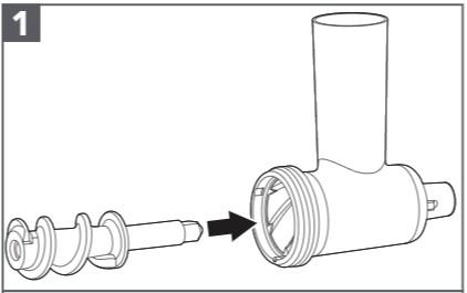 So montieren Sie das Erweiterungspaket Wurstfüllhorn Schritt 1