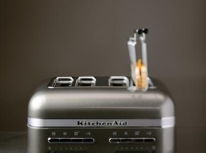 Grey toaster 4 slice - Artisan with sandwich rack