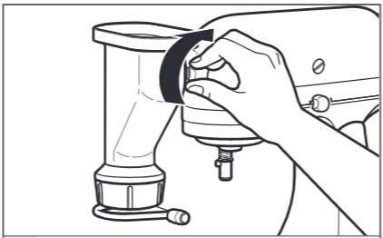 comment fixer la presse à pâtes au robot pâtissier étape4