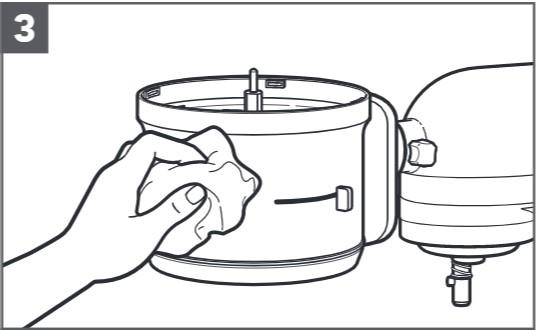 So reinigen Sie den Food-Processor für Küchenmaschinen, Schritt3