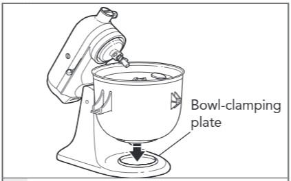 how do you attach the ice cream maker to the tilt head mixer step 4