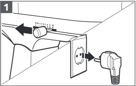 So befestigen Sie den Entsafter an der Küchenmaschine, Schritt1