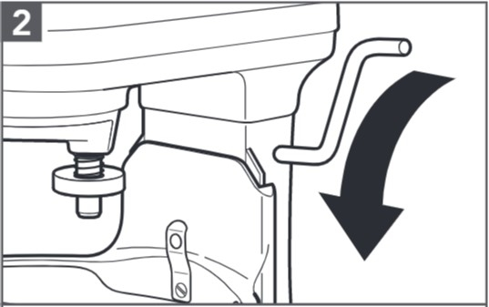 So stellen Sie den Abstand zwischen Flachrührer und Schüssel ein – Schritt2