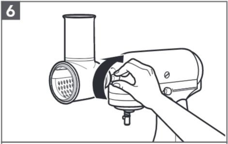 comment assembler le tranchoir/la râpe à légumes étape6