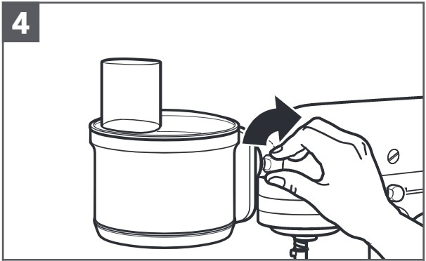 So befestigen Sie den Food-Processor an der Küchenmaschine, Schritt4