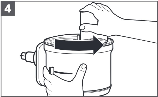 So setzen Sie die beidseitig verwendbaren Reibscheibe ein, Schritt4
