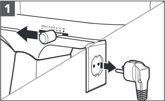 So reinigen Sie den Food-Processor für Küchenmaschinen, Schritt1