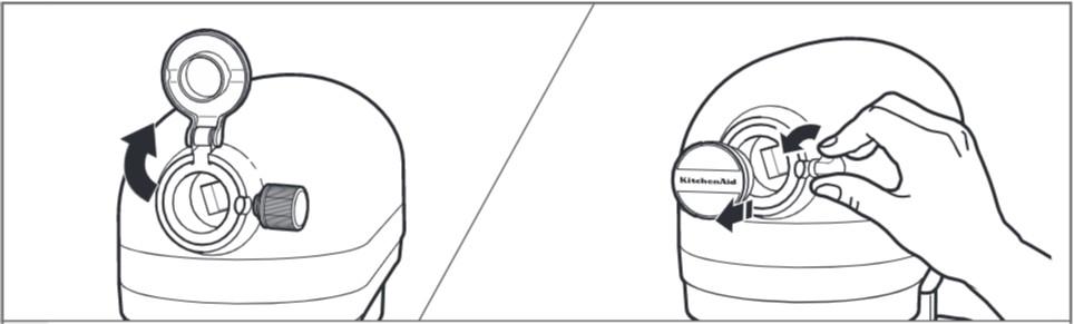 So befestigen Sie das Zubehör zur Ravioliherstellung, Schritt2