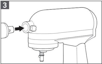 comment fixer le hachoir à viande au robot pâtissier étape3