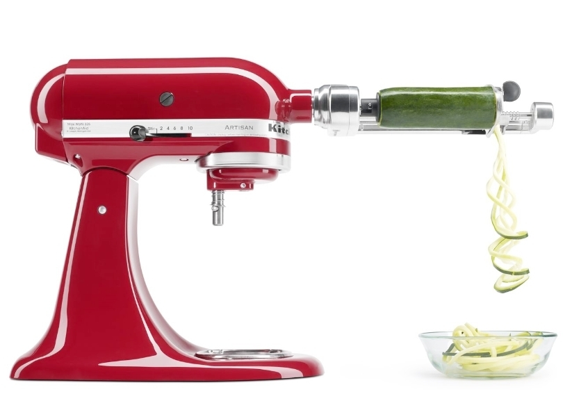 Red mixer with spiralizer