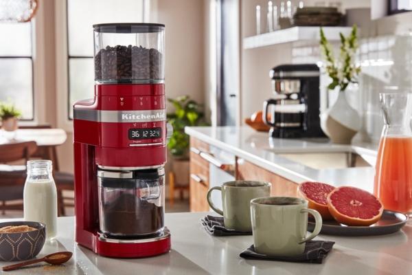 Red Artisan coffee grinder